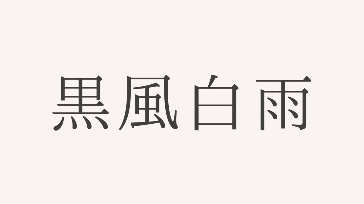 黒風白雨(こくふうはくう) 四字熟語